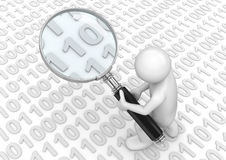 Searching for some binary code Royalty Free Stock Photography