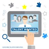 Searching talented employees.  Searching professional employees. Choosing the perfect candidate for the job. Flat design. Vector illustration EPS10 Royalty Free Stock Images