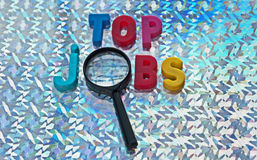 Searching for top jobs Stock Images