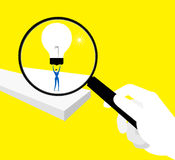 Searching. Use the magnifying glass for searching idea Royalty Free Stock Image