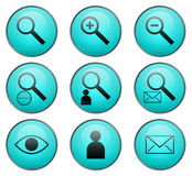 Searching Vector Web Icons Stock Photography