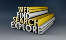 Searching the Web Royalty Free Stock Photos