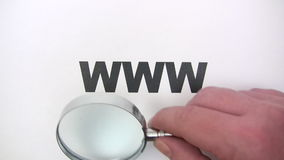Searching the Web stock footage