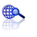 Searching the web Royalty Free Stock Image
