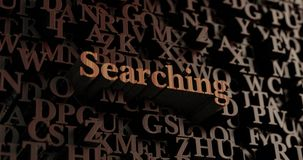 Searching - Wooden 3D rendered letters/message Stock Photo