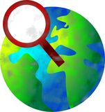 Searching world vector illustration