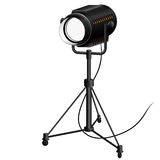 Searchlight to illuminate the scene filming Royalty Free Stock Image