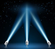 Searchlights or spotlights illustration Stock Images