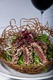Seared Ahi Tuna Salad Royalty Free Stock Photo