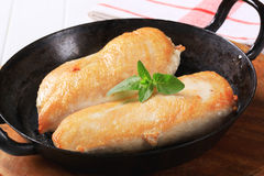 Seared chicken breast fillets Royalty Free Stock Photos