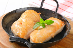 Seared chicken breast fillets Stock Photos