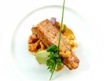 Seared fish stock photography