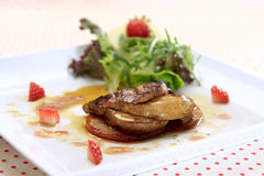 Seared Foie Gras Royalty Free Stock Photography