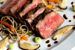 Seared japanese beef Stock Images