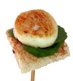 Seared scallops Royalty Free Stock Image