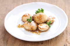 Seared scallops Stock Photography