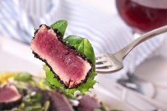 Seared tuna closeup Stock Photo
