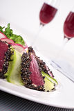 Seared tuna closeup Royalty Free Stock Image