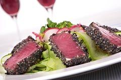 Seared tuna closeup Stock Photos