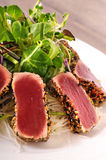 Seared tuna salad Stock Photos