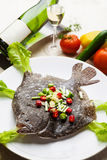 Seared Turbot Royalty Free Stock Photo