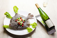 Seared Turbot Stock Images