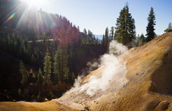 Searing Steaming Boiling Hot Thermal Pools Lassen Volcanic Area Stock Photos
