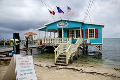 Searious Adventures tour operator in San Pedro, Ambergris Caye, Belize Royalty Free Stock Photos