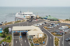 Searoad ferry terminal in Queenscliff, Australia. Terminal for the Searoad ferry to Sorrento at Queenscliff on the Bellarine Peninsula royalty free stock images