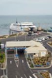 Searoad ferry terminal in Queenscliff, Australia. Terminal for the Searoad ferry to Sorrento at Queenscliff on the Bellarine Peninsula stock images