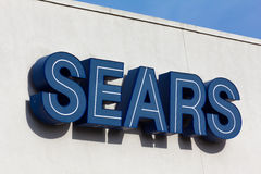 Sears外部标志 免版税库存照片