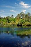 Sears池塘-沙福克县,纽约 图库摄影