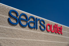 Sears Outlet Exterior and Sign Royalty Free Stock Images
