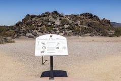 Sears Point Petroglyph Site, Near Dateland, Arizona Royalty Free Stock Photography