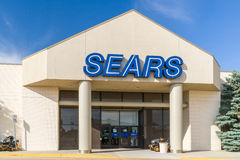 Sears Retail Department Store Exterior and Logo Stock Images