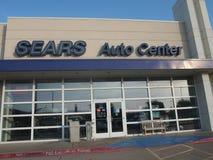 Sears-Selbstmittel unterzeichnen herein das StoneBriar-Einkaufszentrum stockfotografie