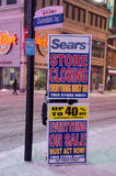 Sears Store Closing in Toronto Stock Photos