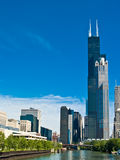 Sears Tower. Chicago. Shot from the Chicago River Royalty Free Stock Photos