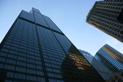 Sears tower from below Royalty Free Stock Photo