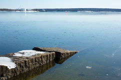 Searsport Maine Waterfront Stock Photography