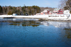 Searsport Waterfront Vacant Property Royalty Free Stock Photo