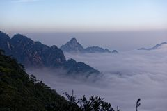 Seas of clouds-Azalea Mountain-Jinggang Mountains. Jinggangshan is located in Ji`an City, Jiangxi Province, is located in the eastern border, Nanling North Stock Images