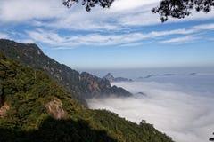 Seas of clouds-Azalea Mountain-Jinggang Mountains. Jinggangshan is located in Ji`an City, Jiangxi Province, is located in the eastern border, Nanling North Royalty Free Stock Photo