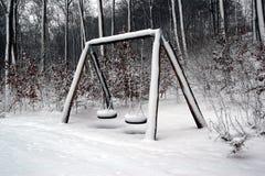 Seasaw di inverno Fotografie Stock