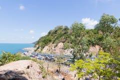 Seascape на Chanthaburi, Таиланде стоковые изображения rf