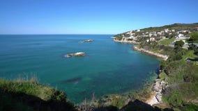 Seascape άποψη σε Ulcinj φιλμ μικρού μήκους