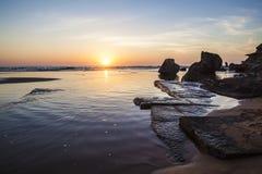 Seascape ανατολής Στοκ φωτογραφία με δικαίωμα ελεύθερης χρήσης