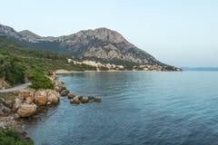 Seascape αδριατική θάλασσα Κροατία Στοκ εικόνες με δικαίωμα ελεύθερης χρήσης