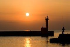 seascape βραδιού Στοκ φωτογραφία με δικαίωμα ελεύθερης χρήσης