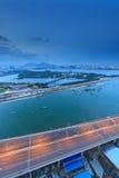 Seascape γεφυρών Xinglin Xiamen, Κίνα Στοκ Εικόνες